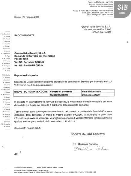 Gruben Brevetti Serramenti Infissi Antiscasso Roma e provincia Rieti Viterbo Latina Frosinone Lazio